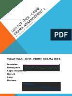 log for crime drama arrangement1
