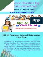 SOC 120 Assist Education Expert/soc120asssistexpert.com