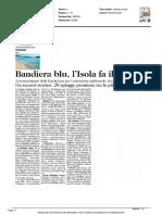 Bandiere Blu, l'Isola fa il pieno - L'Unione Sarda del 12 maggio 2016