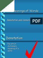 connotationsdenotations