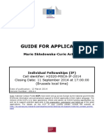 MSCA-IF Guide for Applicants if 2014
