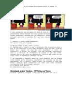 Atividade Para Aula de Língua Portuguesa Sobre a Classe de Palavra Verbo