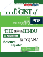 Gist of the Hindu Yojana Kurukshetra PIB Science Reporter January February 2013