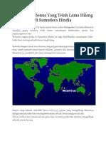 """""""Mauritia"""", Benua Yang Telah Lama Hilang Di Samudera Hindia"""