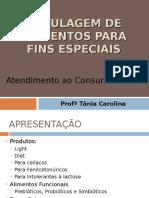 Rotulagem de Alimentos Para Fins Especiais