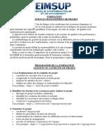 Gestion de Projet _ Programme
