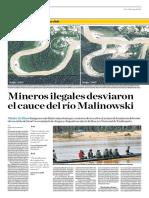 Mineros Ilegales Desviaron El Cauce Del Río Malinowski