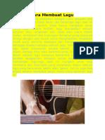 Cara Membuat Lagu