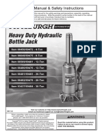 Pittsburgh Hydraulic jack Manual 66482