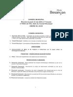 Conseil municipal Besançon