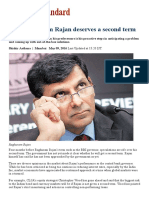 Why Raghuram Rajan Deserves a Second Term