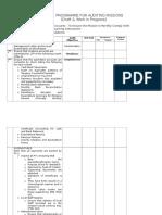 Audit Program for Auditing Missions - Current