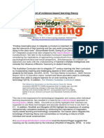 statement of evidence-based learning  with caitlins changes