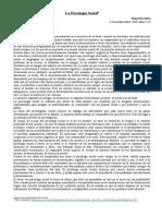 La Psicología Social- Pichon Riviere