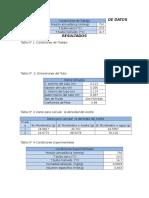 Tablas de Datos y Resultado 3 Pitot