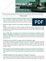 Americans for Prosperity Minimum Wage Policy Brief