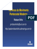 100 Anos Do Movimento Pentecostal Moderno