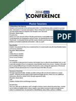 Unconference Session Descriptions 2016
