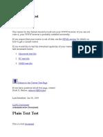 Plain Text Test