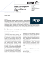 Thermal and efficiency characterization of a low-backlash planetary gearbox