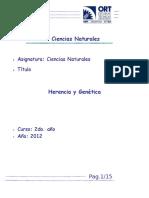 Guía de Herencia y Genética 2012