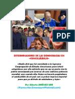 Exterminadores de Las Democracias en «Conciliábulo»