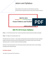 SBI PO 2016 Pattern and Syllabus