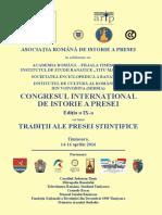 Congresul internaţional de istorie a presei ediția a IX-a, Timisoara, 2016.pdf