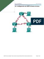 Instrucciones de configuración básica de OSPF en un area OSPFv2