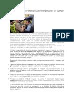 Sanciones Por Infracciones en Conduccion en Estado de Ebriedad i