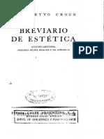 Croce Benedetto Breviario de Estetica