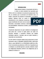 proyecto  agropecuaria