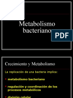 Crecimiento y Metabolismo Bacteriano