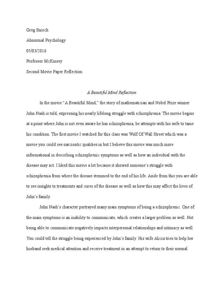 Uncategorized A Beautiful Mind Worksheet a beautiful mind movie psychological analysis schizophrenia mental and behavioural disorders