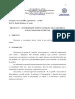 4º Prática de Físico-química Experimental - 2011.1 - Determinação de Concentração Micelar Crítica Utilizando Condutivímetro