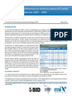 Microfinanzas en América Latina y El Caribe - Tendencias 2005-2009
