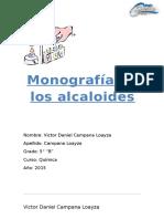 monografia de alcaloides
