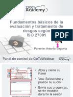 Fundamentos de Analisis y Tratamiento Riesgos de Acuerdo a ISO 27001 Presentation Deck
