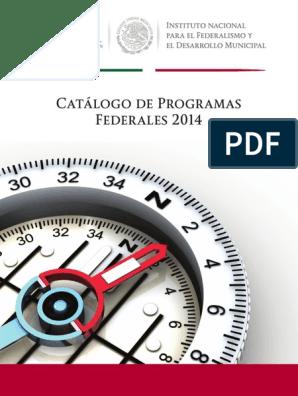 Catalogo De Programas Federales 2014 Gobierno Electrónico