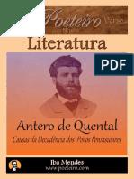 Causas Da Decadencia Dos Povos Peninsulares - Antero de Quental - Iba Mendes