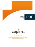 Zopim - Generic Sales Training Deck