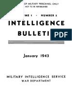 (1943) Intelligence Bulletin, Vol.I, No. 5