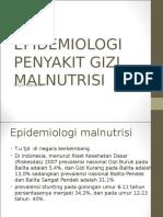 Epidemiologi Penyakit Gizi Malnutrisi 1