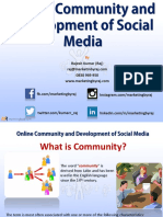Development of Online Community & Social Media