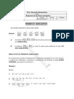 Reducción de términos algebraicos
