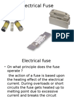 Basics of Electrical Fuse