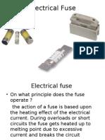 Basics of Electrical Fuse