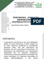 Pneumonia – Infecção Respiratória – Staphilococcus Aureus