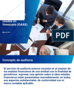 Distintas Normas de Auditoria Usadas en Venezuela GAAS