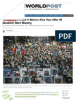thousands protest in mexico one year after 43 students went missing
